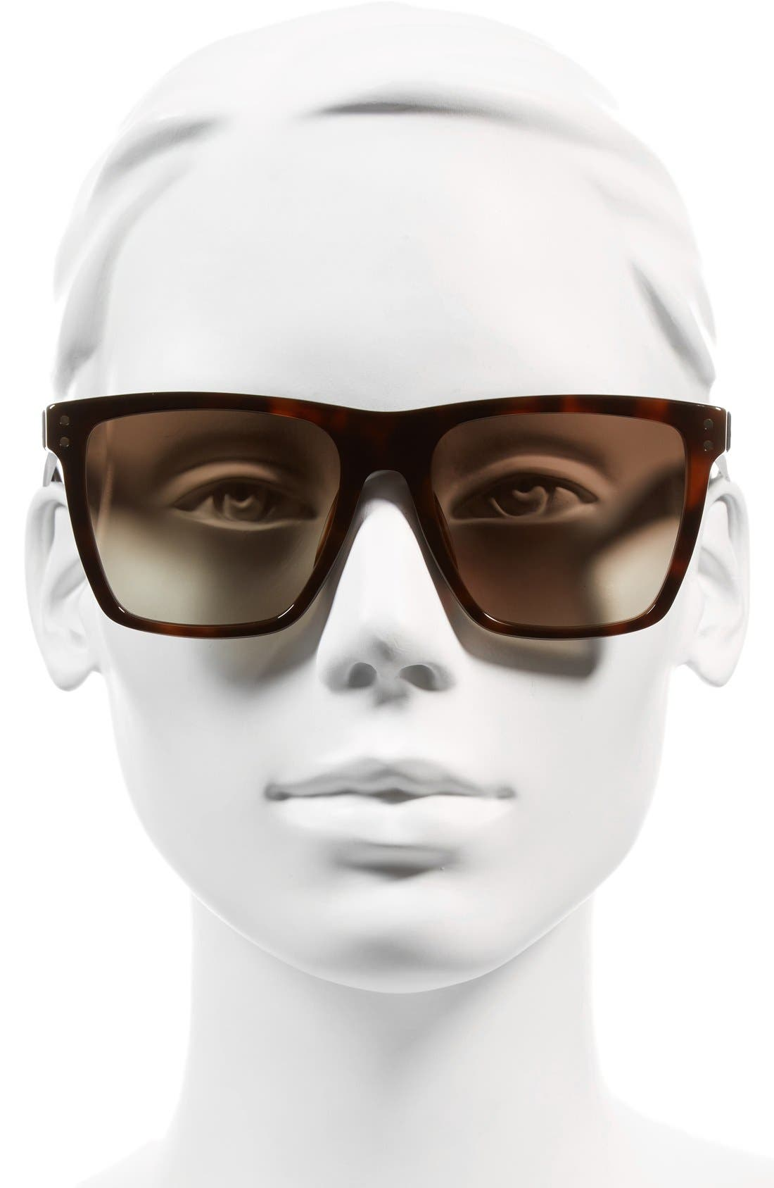 ,                             54mm Flat Top Gradient Square Frame Sunglasses,                             Alternate thumbnail 9, color,                             211