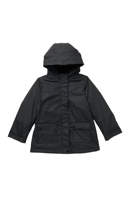 Image of Urban Republic Woodie Faux Fur Lined Water Resistant Rain Jacket