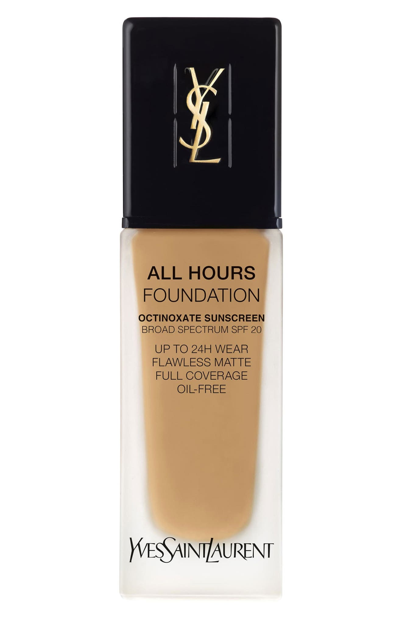 Yves Saint Laurent All Hours Full Coverage Matte Foundation Spf 20 - Bd60 Warm Amber