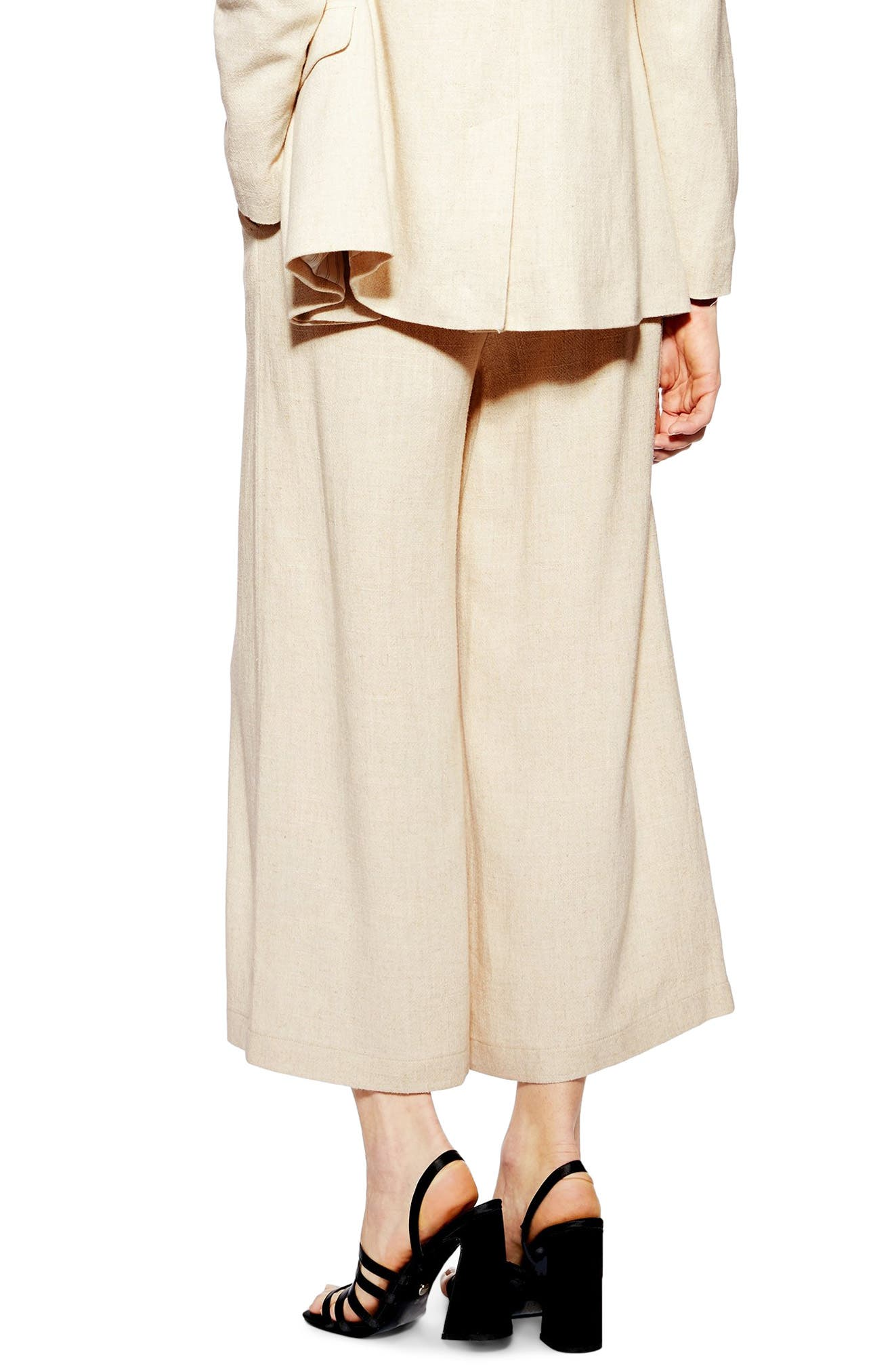 ,                             Coco Cropped Wide Leg Trousers,                             Alternate thumbnail 2, color,                             OATMEAL