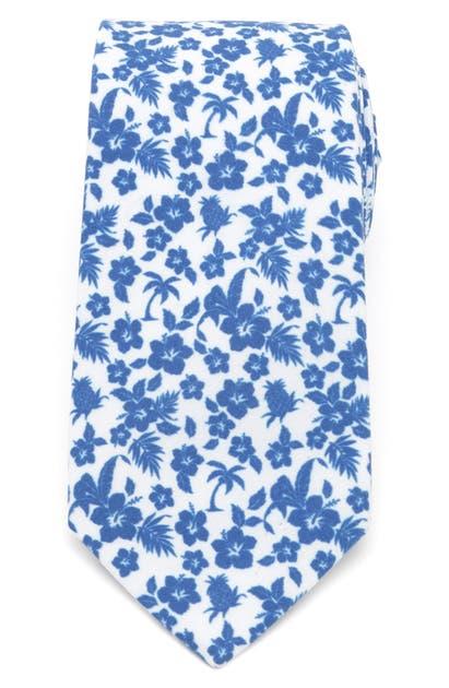 Cufflinks, Inc Tropical Cotton Tie In Blue