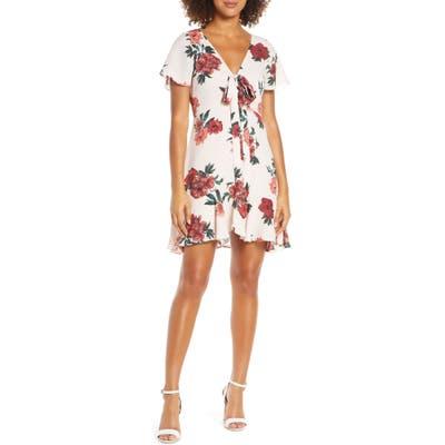 Bb Dakota Bev Hills Floral Print Minidress, Pink