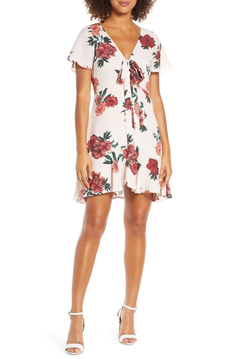 BB Dakota Bev Hills Floral Print Minidress