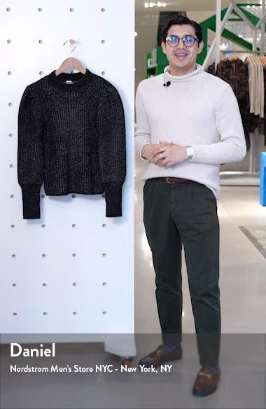 metallic thread puff sleeve sweater, sales video thumbnail
