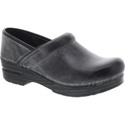 Dansko Distressed Professional Clog- Black