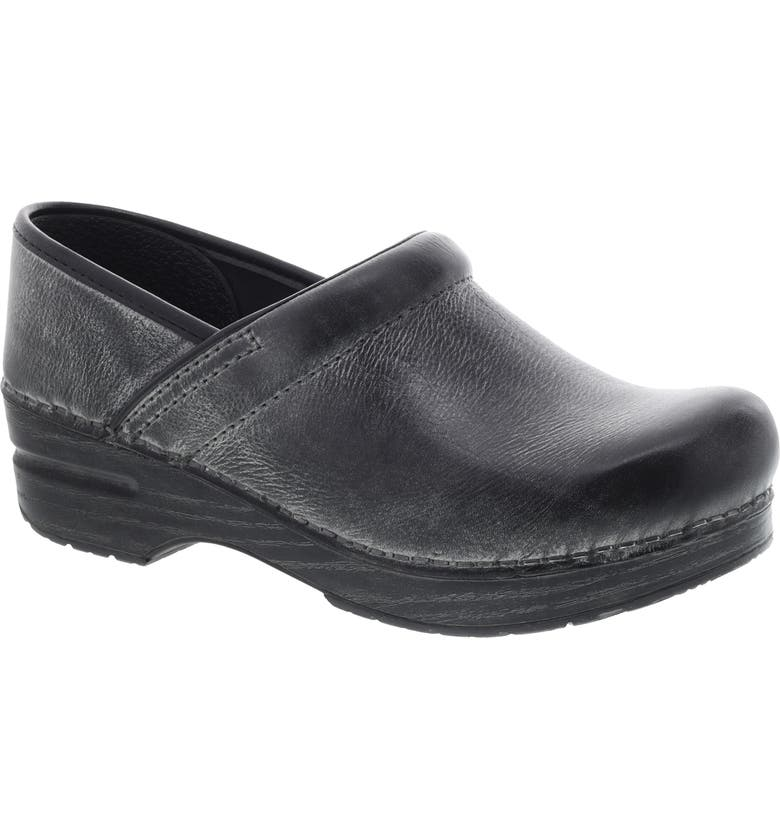 DANSKO Distressed Professional Clog, Main, color, CHARCOAL