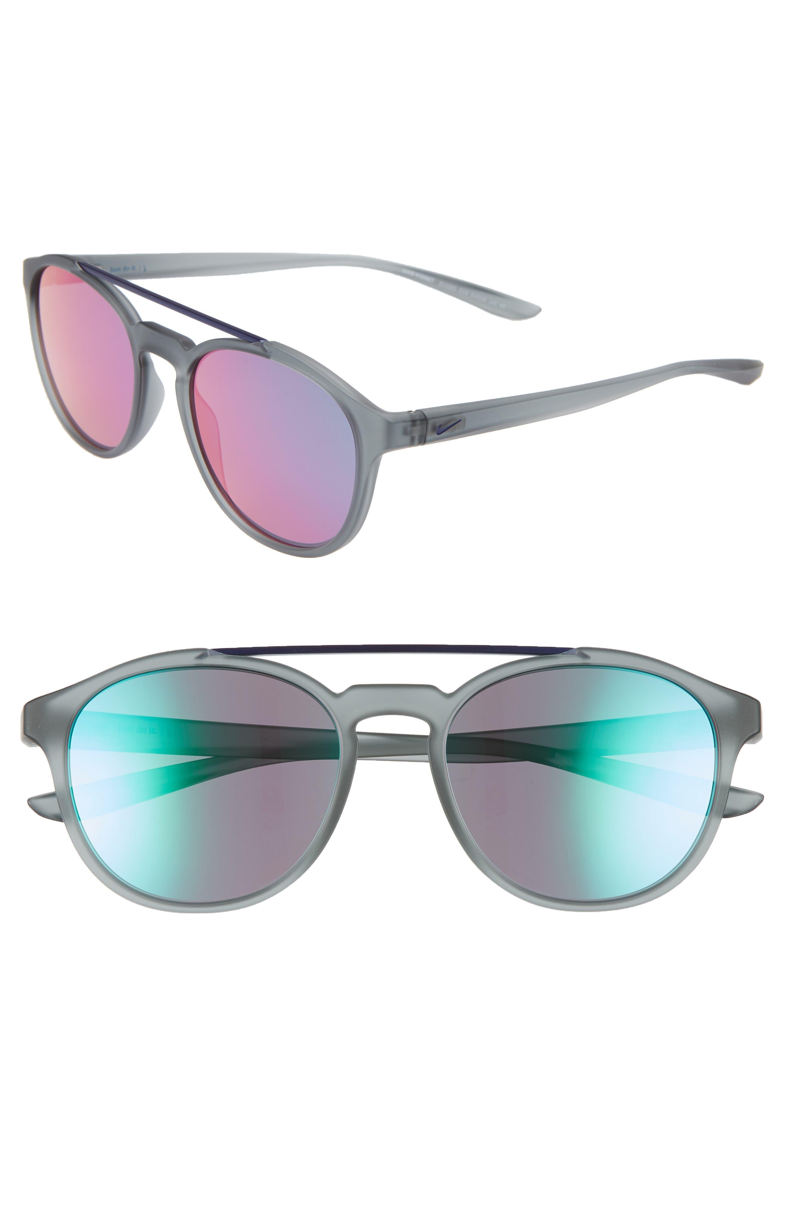 Nike Kismet 5m Round Sunglasses - Matte Cool Grey/ Teal