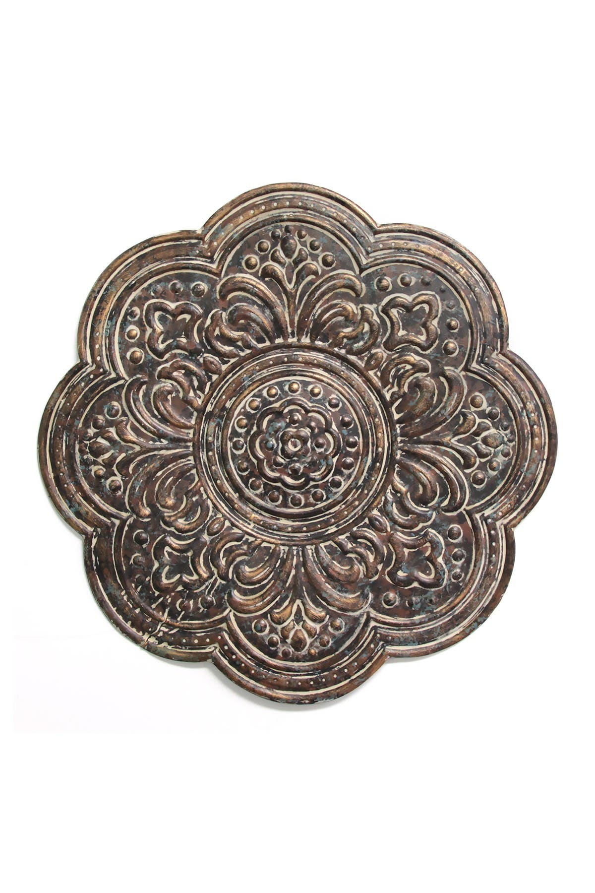 Image of Stratton Home Brown Rustic Bronze Medallion Wall Decor