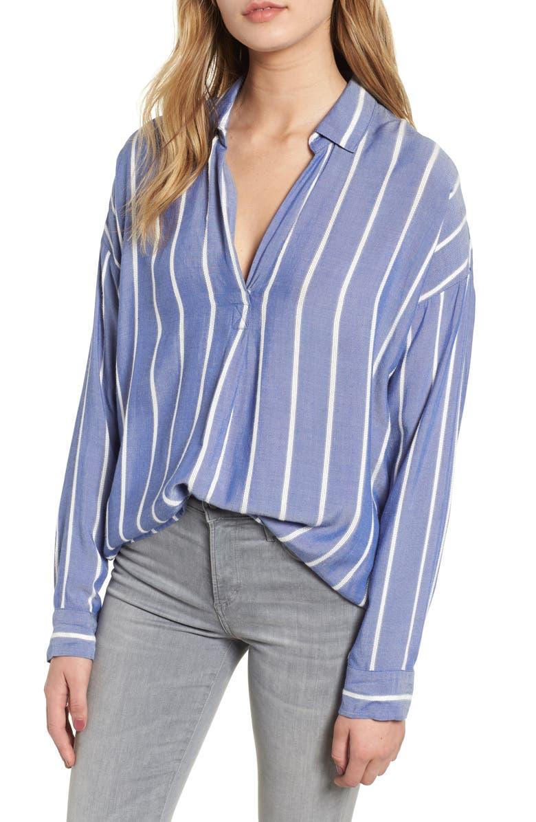 RAILS Rosanna Textured Stripe Blouse, Main, color, 406