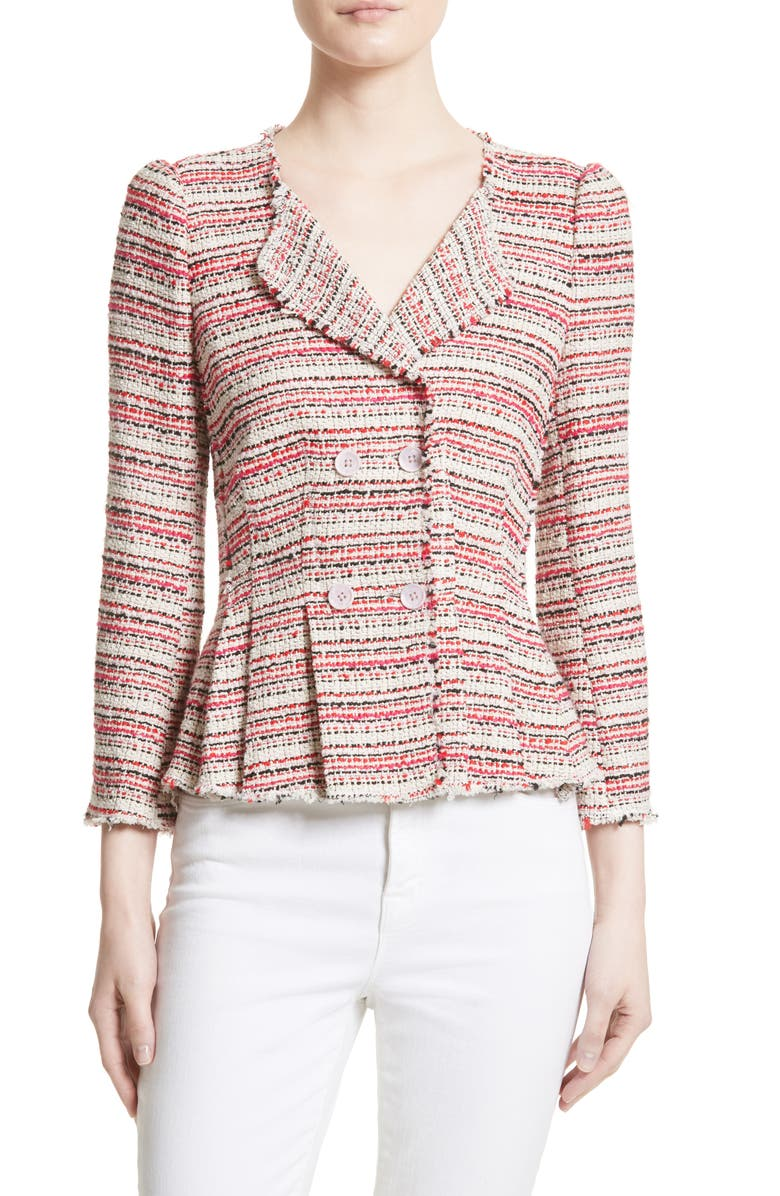 REBECCA TAYLOR Optic Tweed Jacket, Main, color, 600