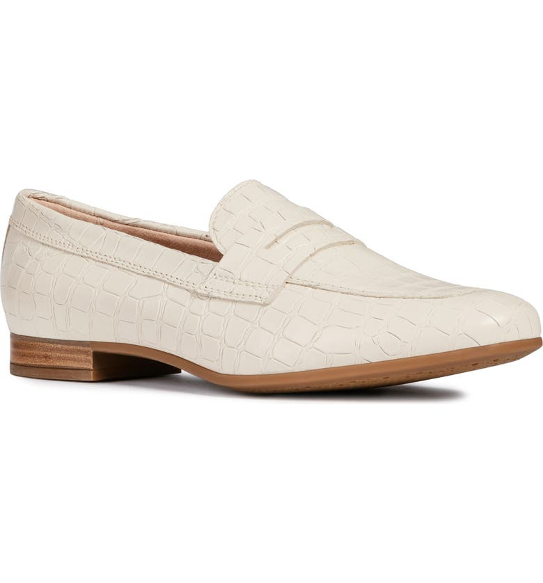 GEOX Marlyna Loafer, Main, color, CREAM LEATHER
