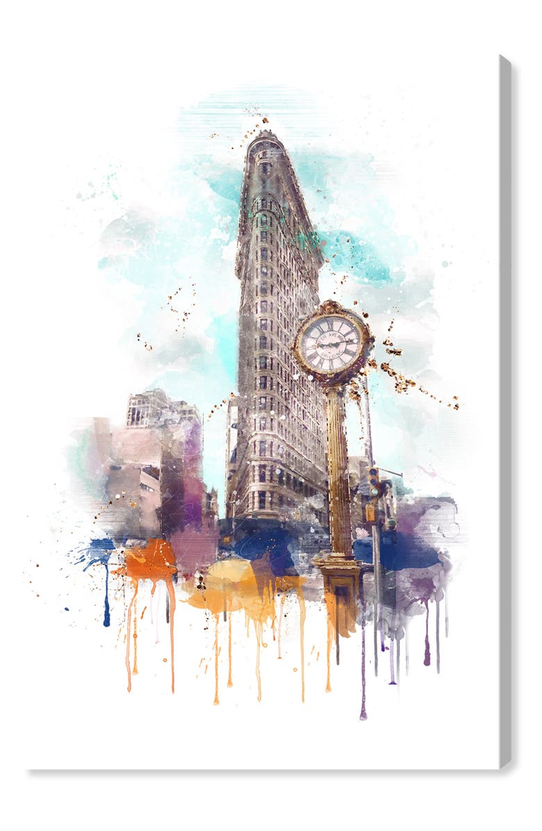 OLIVER GAL New York's Delight Canvas Wall Art, Main, color, GREY