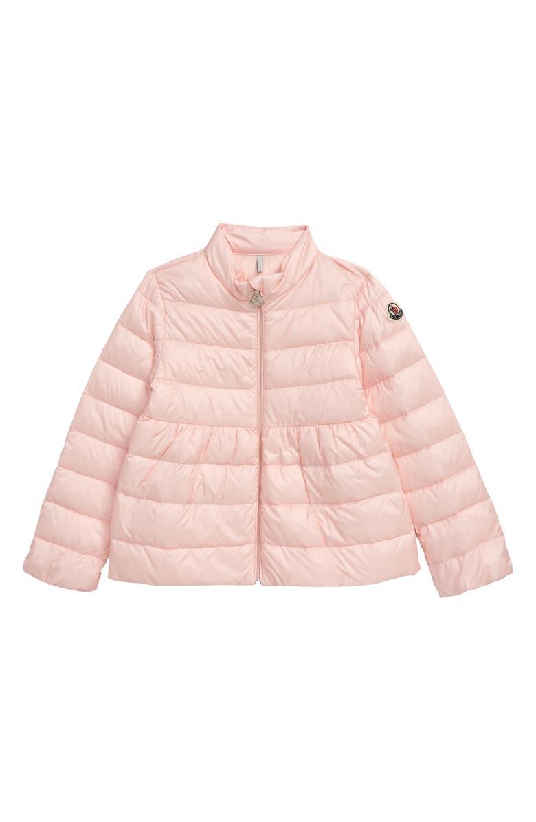 MONCLER Joelle Down Puffer Jacket, Main, color, LIGHT PINK