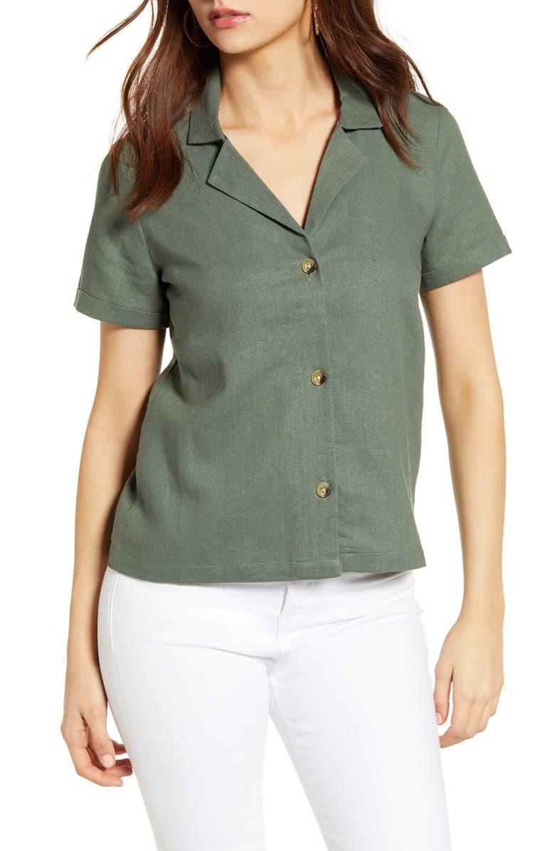 VERO MODA Woven Pajama Shirt, Main, color, 315