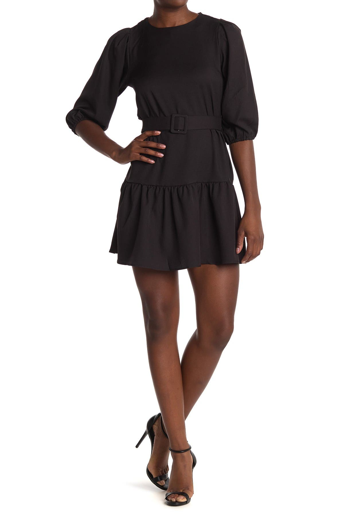 Image of FAVLUX Puff Sleeve Ruffle Dress