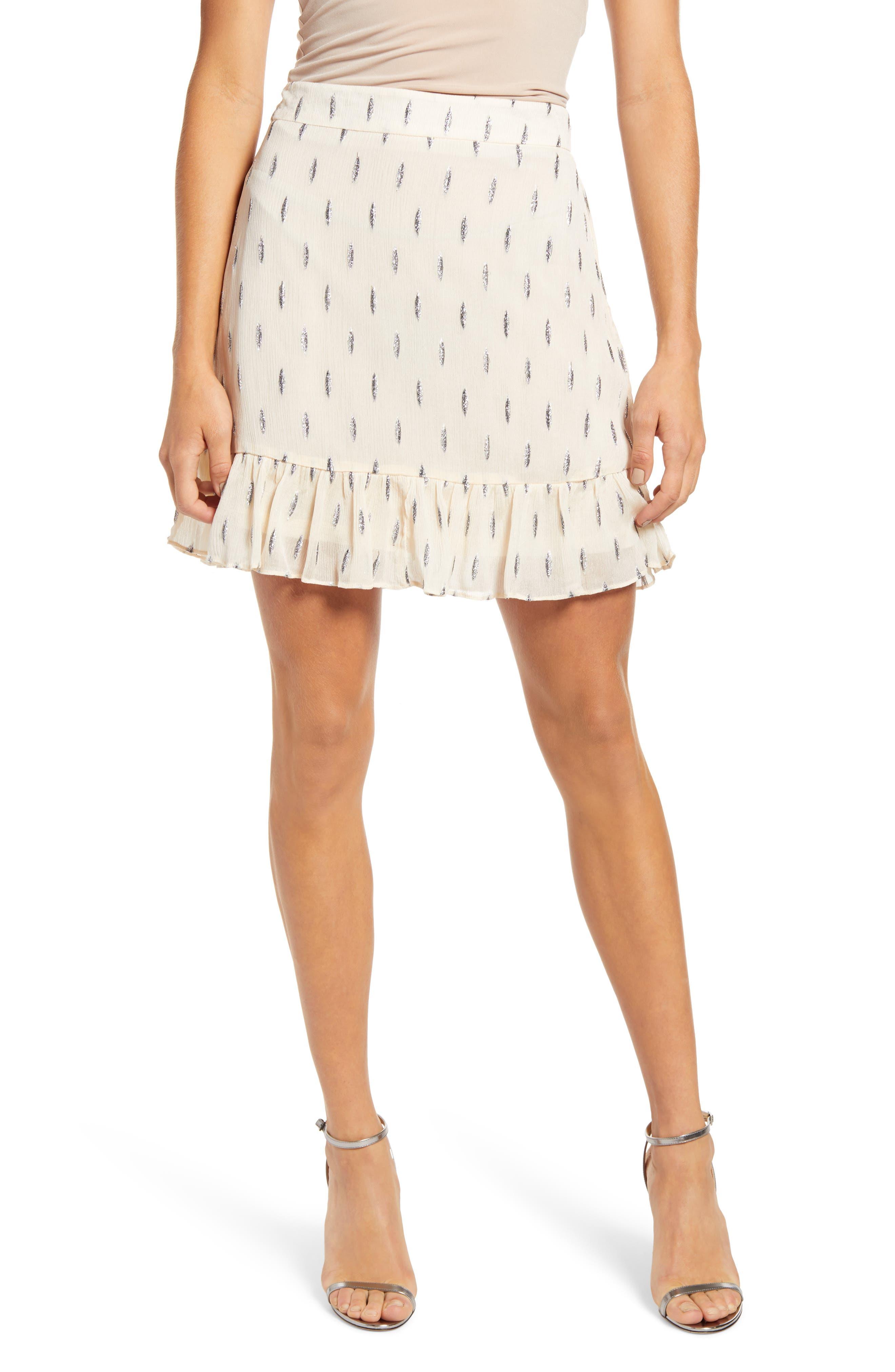 Image of VERO MODA Shimmer Layered Skirt