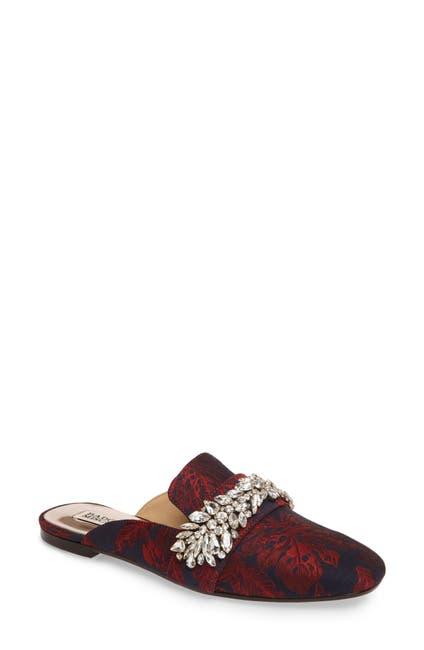 Image of Badgley Mischka Kana Embellished Loafer Mule