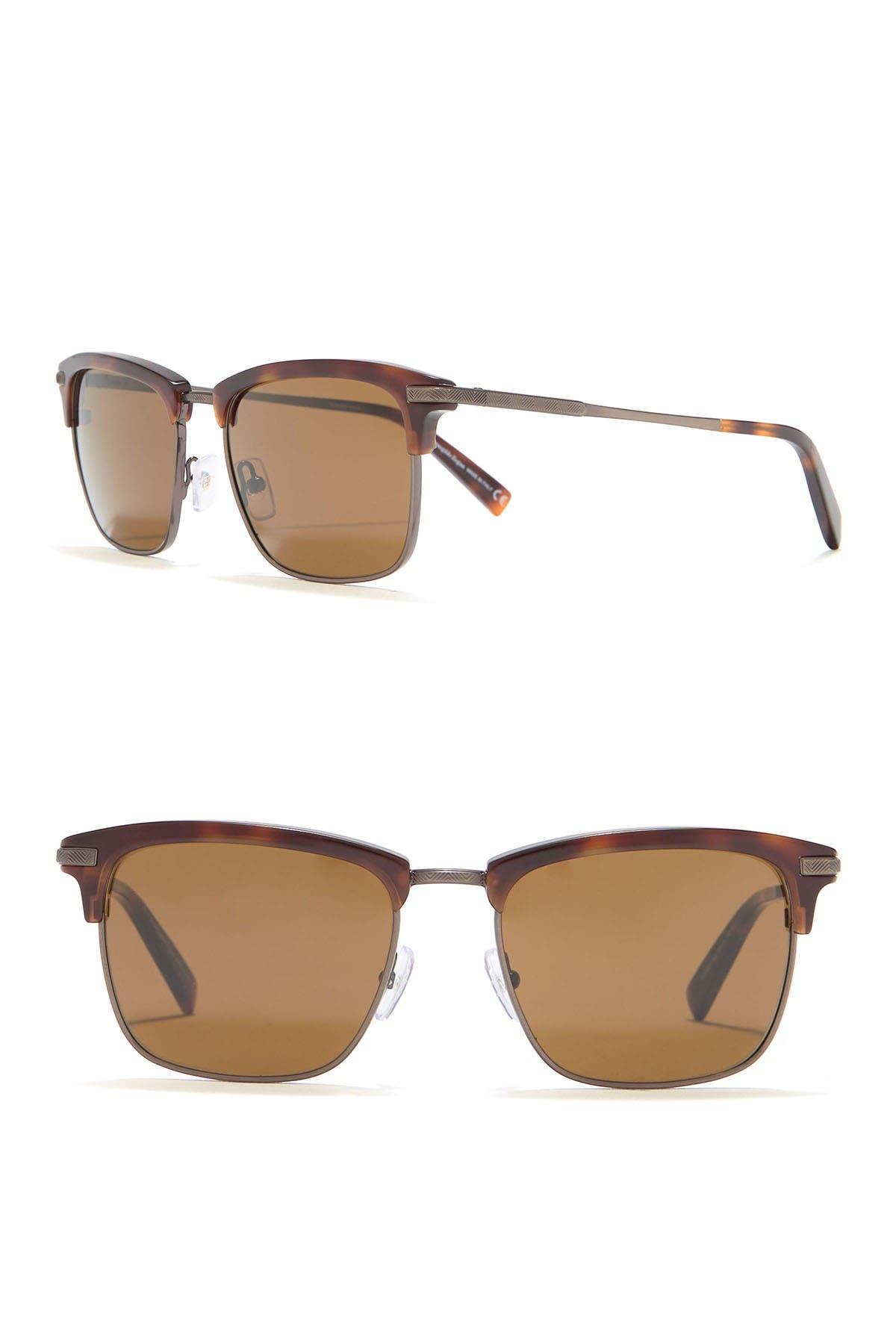 Image of Ermenegildo Zegna Clubmaster 53mm Sunglasses