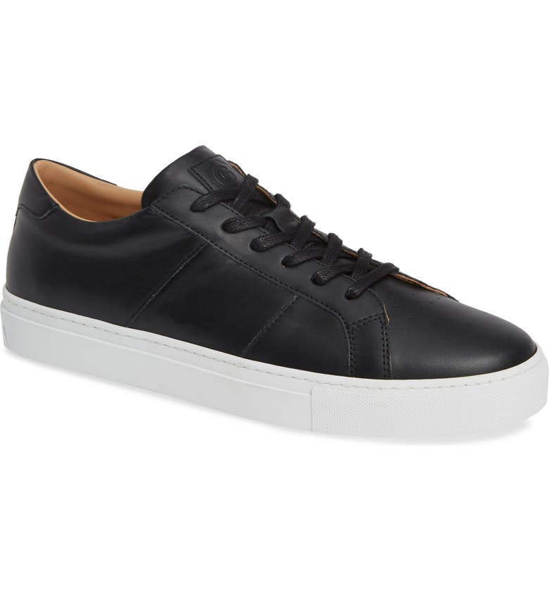 GREATS Royale Sneaker, Main, color, BLACK FLAT LEATHER