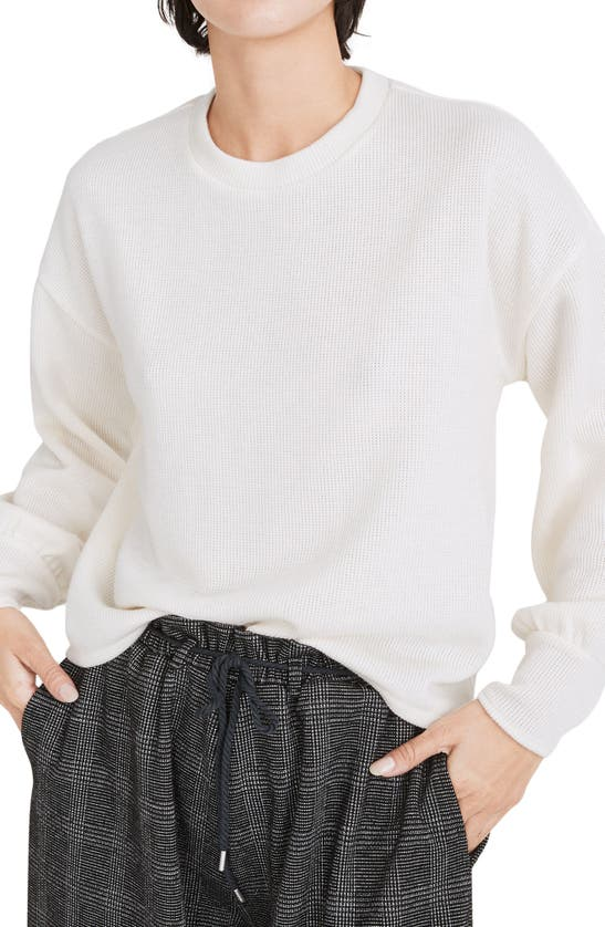 Madewell BRUSHED KNIT PUFF SLEEVE TOP