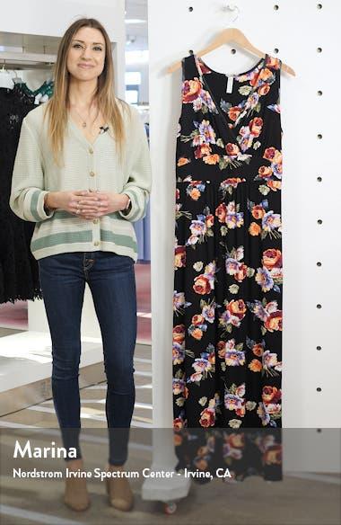 Floral Halter Neck Maxi Dress, sales video thumbnail