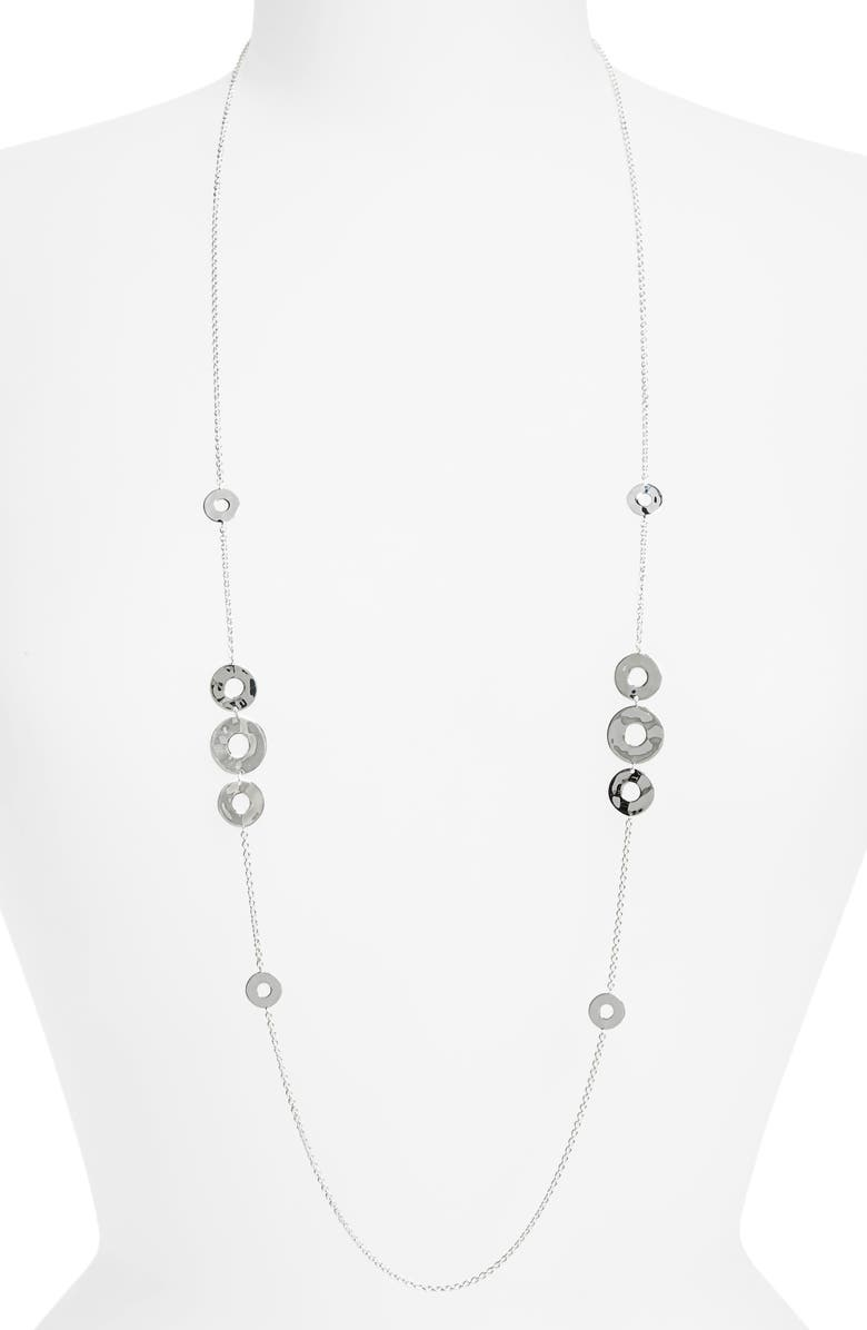 IPPOLITA Senso Galaxy Long Station Necklace, Main, color, SILVER