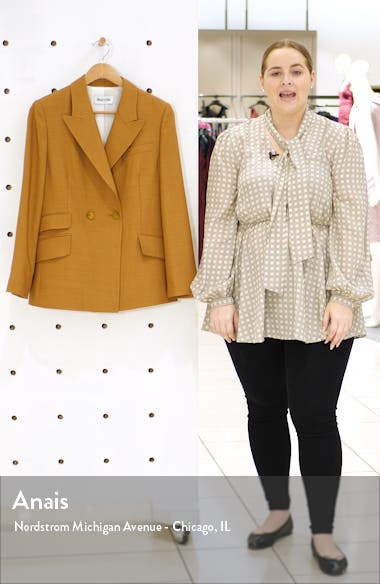 Rose Double Breasted Wool Blend Jacket, sales video thumbnail