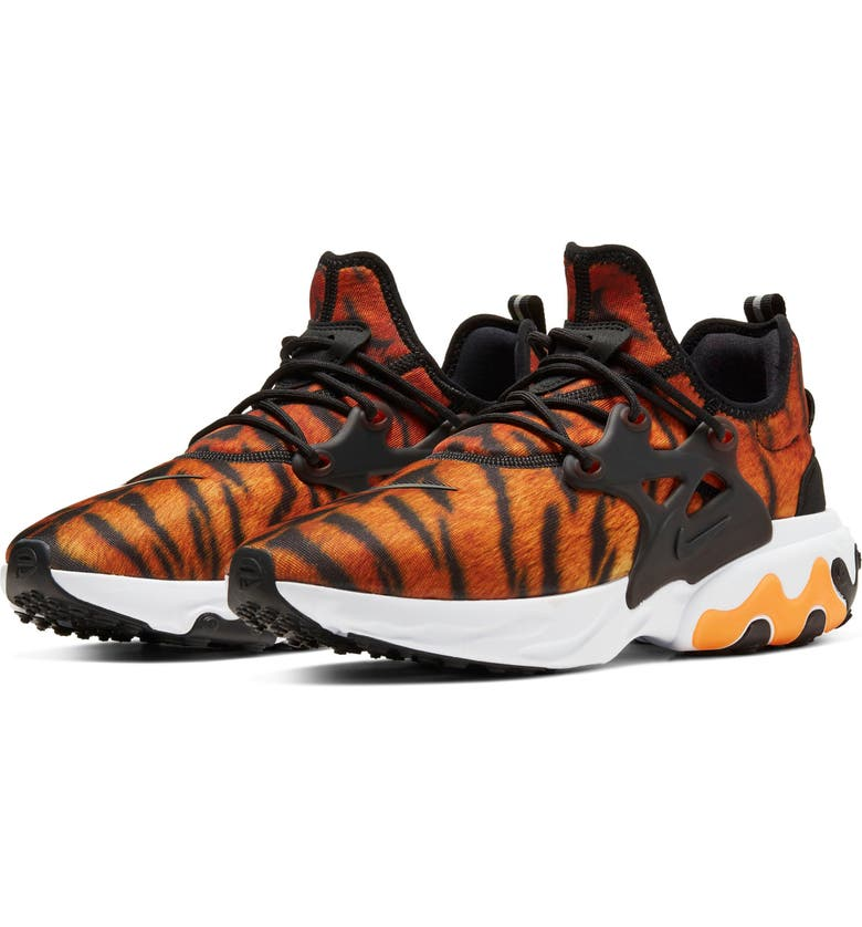 NIKE React Presto Premium Sneaker, Main, color, MAGMA ORANGE/ BLACK/ WHITE