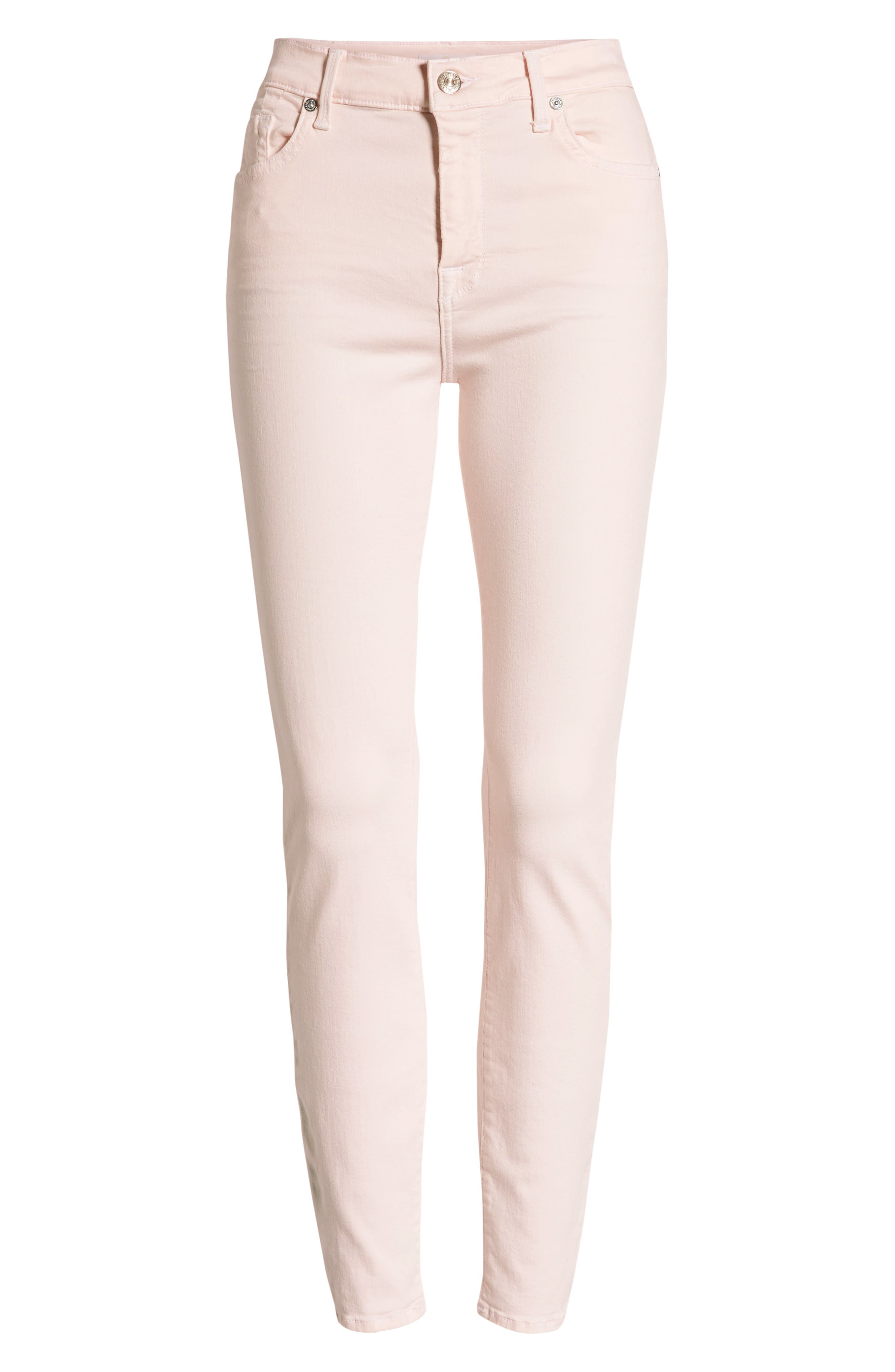 ,                             High Waist Ankle Skinny Jeans,                             Alternate thumbnail 7, color,                             PINK SUNRISE