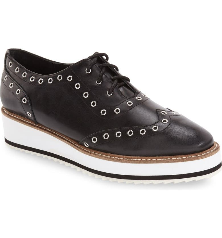 SHELLYS LONDON 'Winchester' Platform Wedge Oxford, Main, color, 001