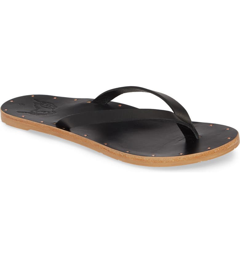 BEEK Seabird Flip Flop, Main, color, BLACK/ BLACK
