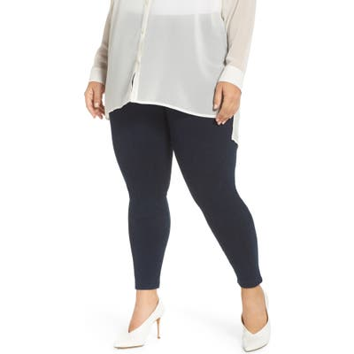 Plus Size Lysse High Rise Stretch Denim Leggings, Blue