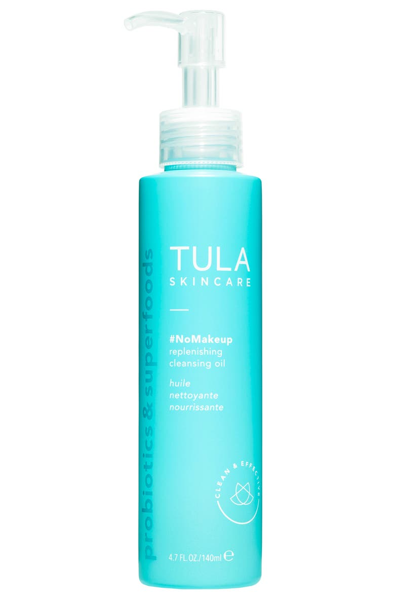 TULA PROBIOTIC SKINCARE #NoMakeup Replenishing Cleansing Oil, Main, color, NO COLOR