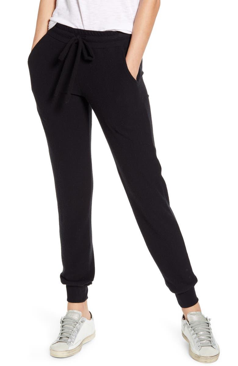 TREASURE & BOND Cozy Jogger Pants, Main, color, BLACK