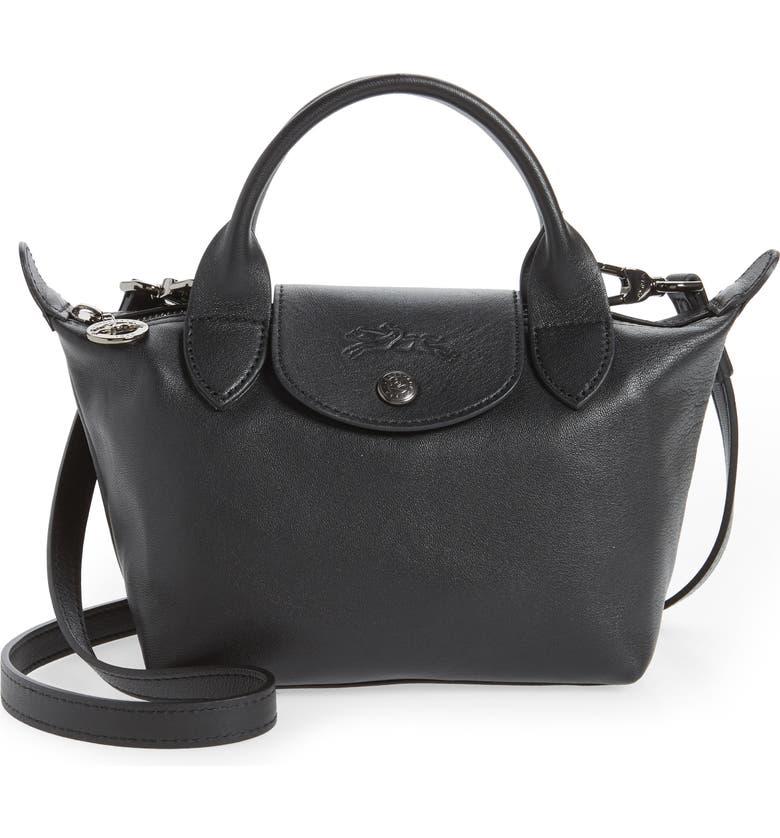 Mini Le Pliage Cuir Leather Top Handle Bag | Nordstrom