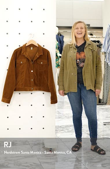 Corduroy Crop Trucker Jacket, sales video thumbnail