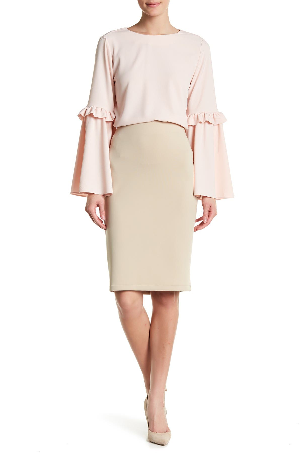 Image of Catherine Catherine Malandrino Solid Pencil Skirt