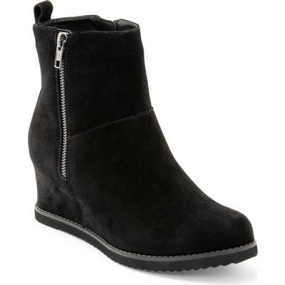 Blondo Rise Waterproof Wedge Bootie- Black