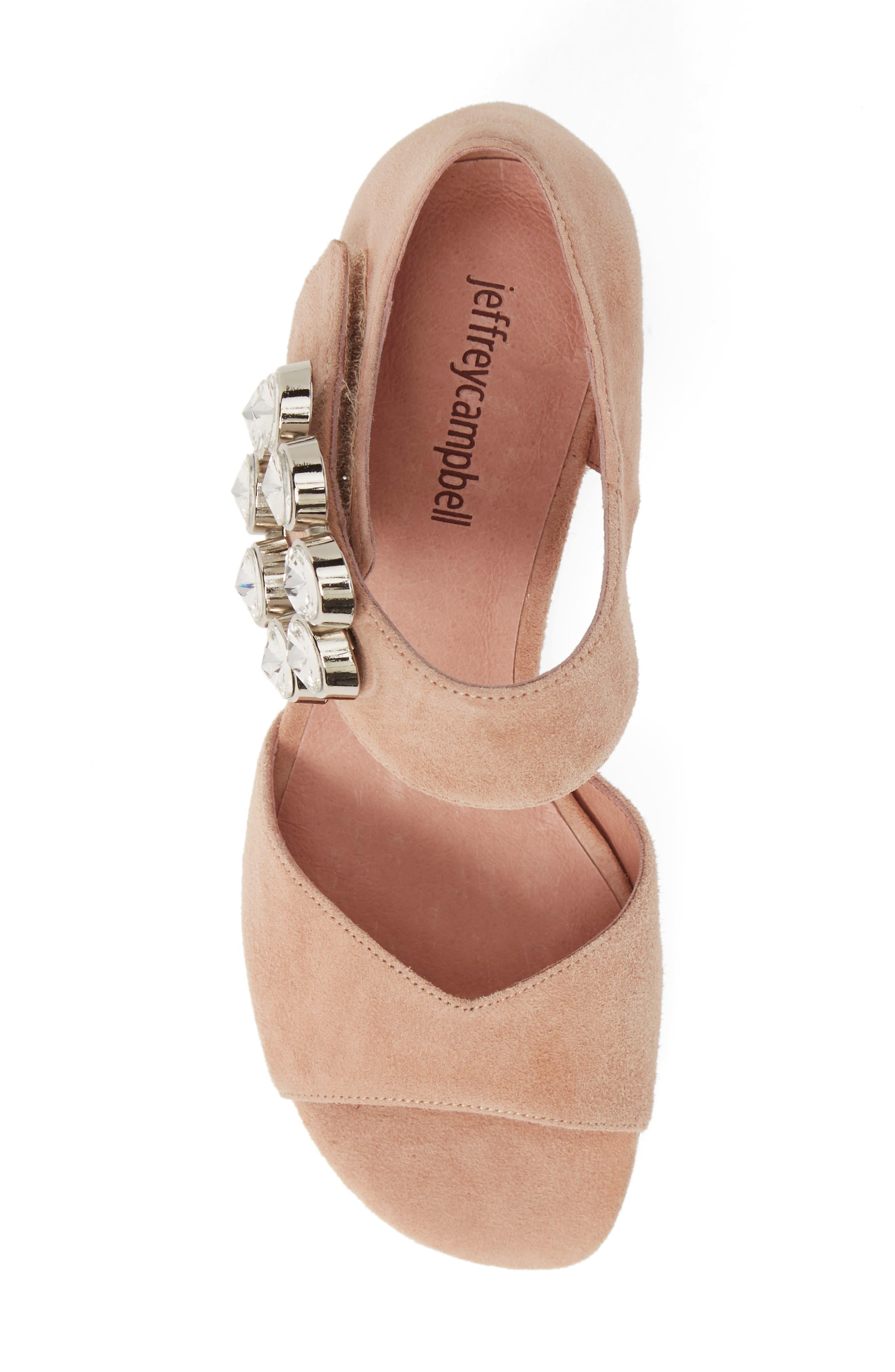 ,                             Boleyn Sandal,                             Alternate thumbnail 5, color,                             NUDE SUEDE/ SILVER