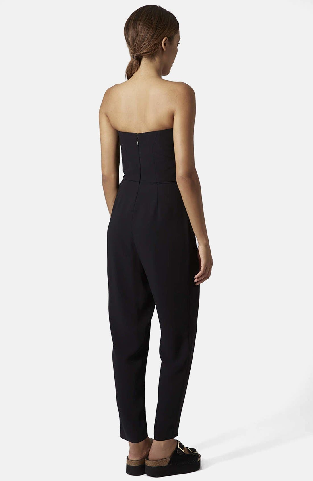 ,                             Plunge Bandeau Jumpsuit,                             Alternate thumbnail 4, color,                             001