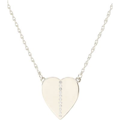 Kris Nations Pave Heart Charm Necklace