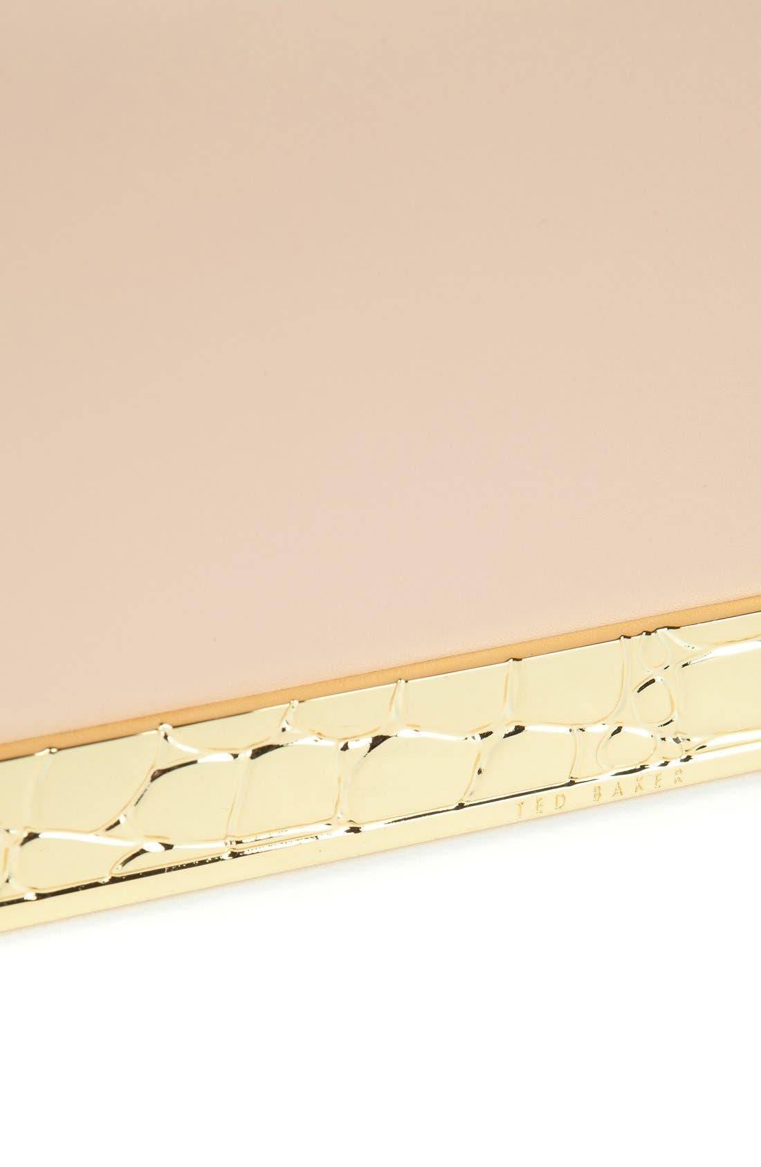 ,                             'Elise' Leather Box Clutch,                             Alternate thumbnail 5, color,                             250