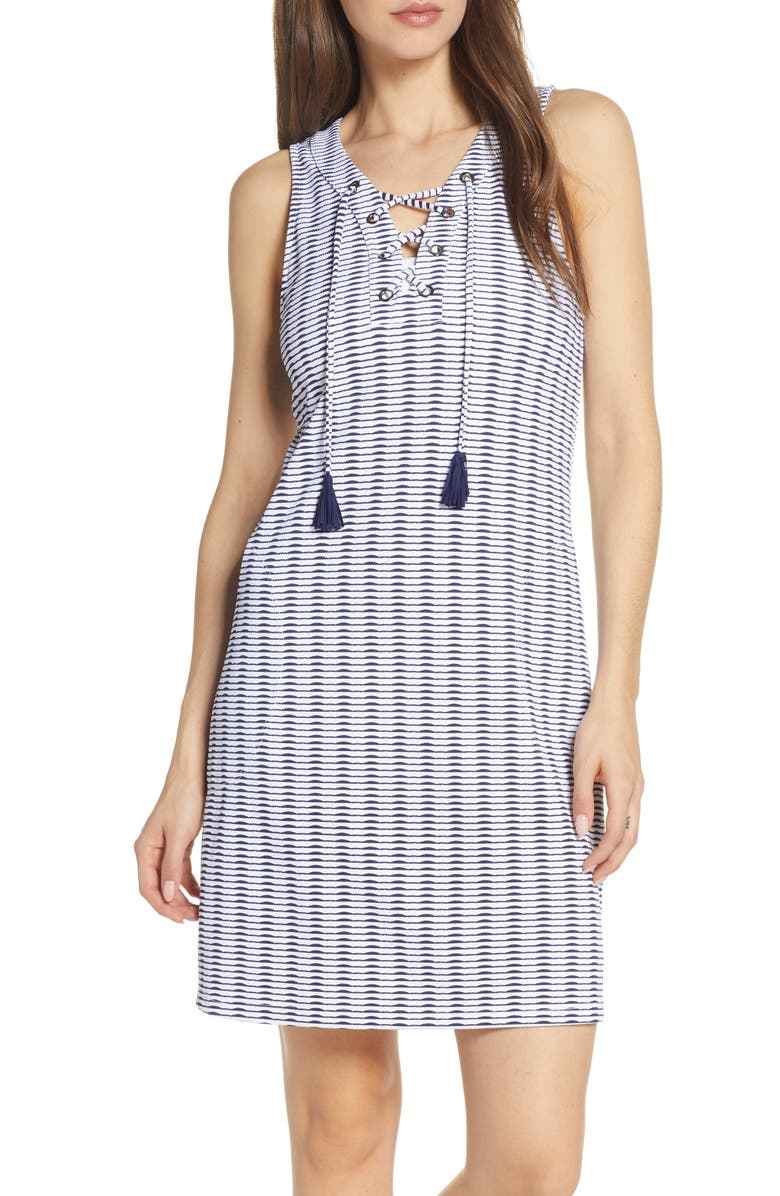 TOMMY BAHAMA Island Cays Cover-Up Dress, Main, color, WHITE
