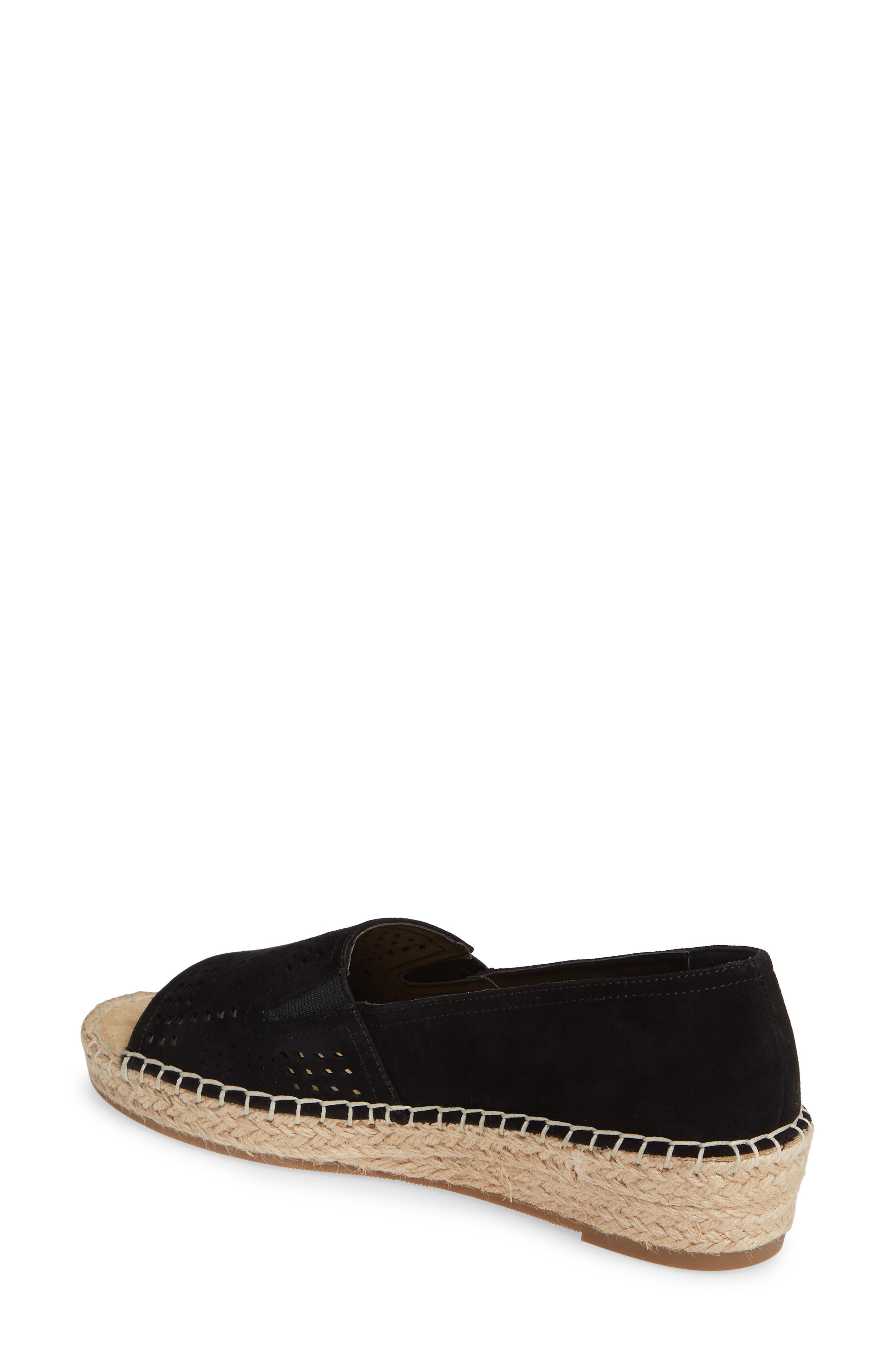 ,                             Cora Open Toe Slip-On,                             Alternate thumbnail 2, color,                             BLACK SUEDE
