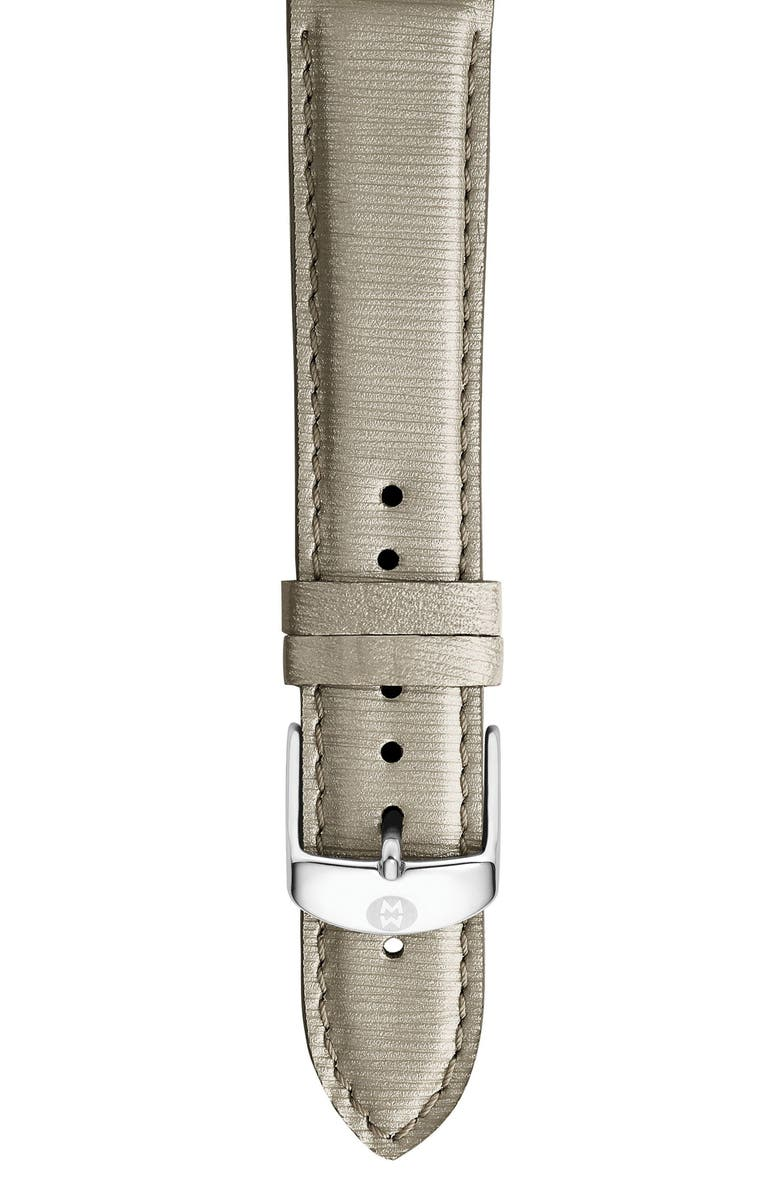 MICHELE 16mm Leather Watch Strap, Main, color, 022