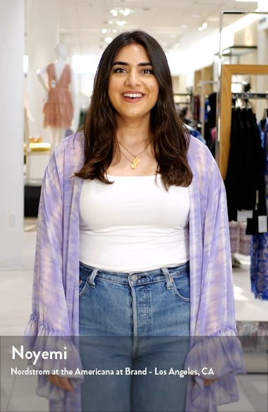 Layered Long Sleeve Denim Midi Dress, sales video thumbnail