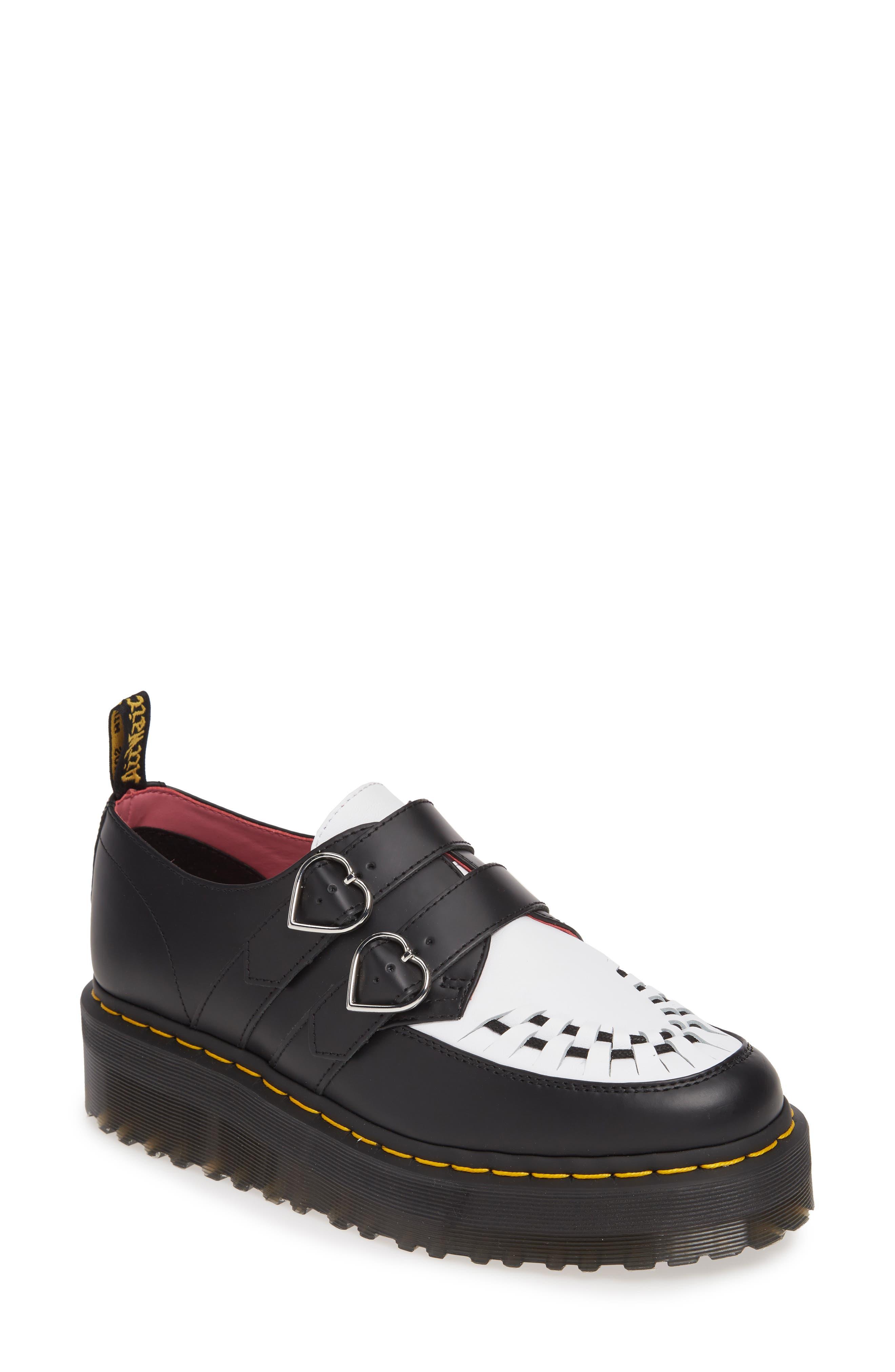 Dr. Martens X Lazy Oaf Buckle Platform Loafer, Black