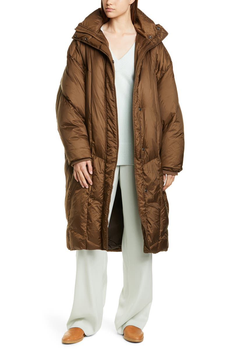 VINCE Quilted Puffer Coat, Main, color, MOCHA