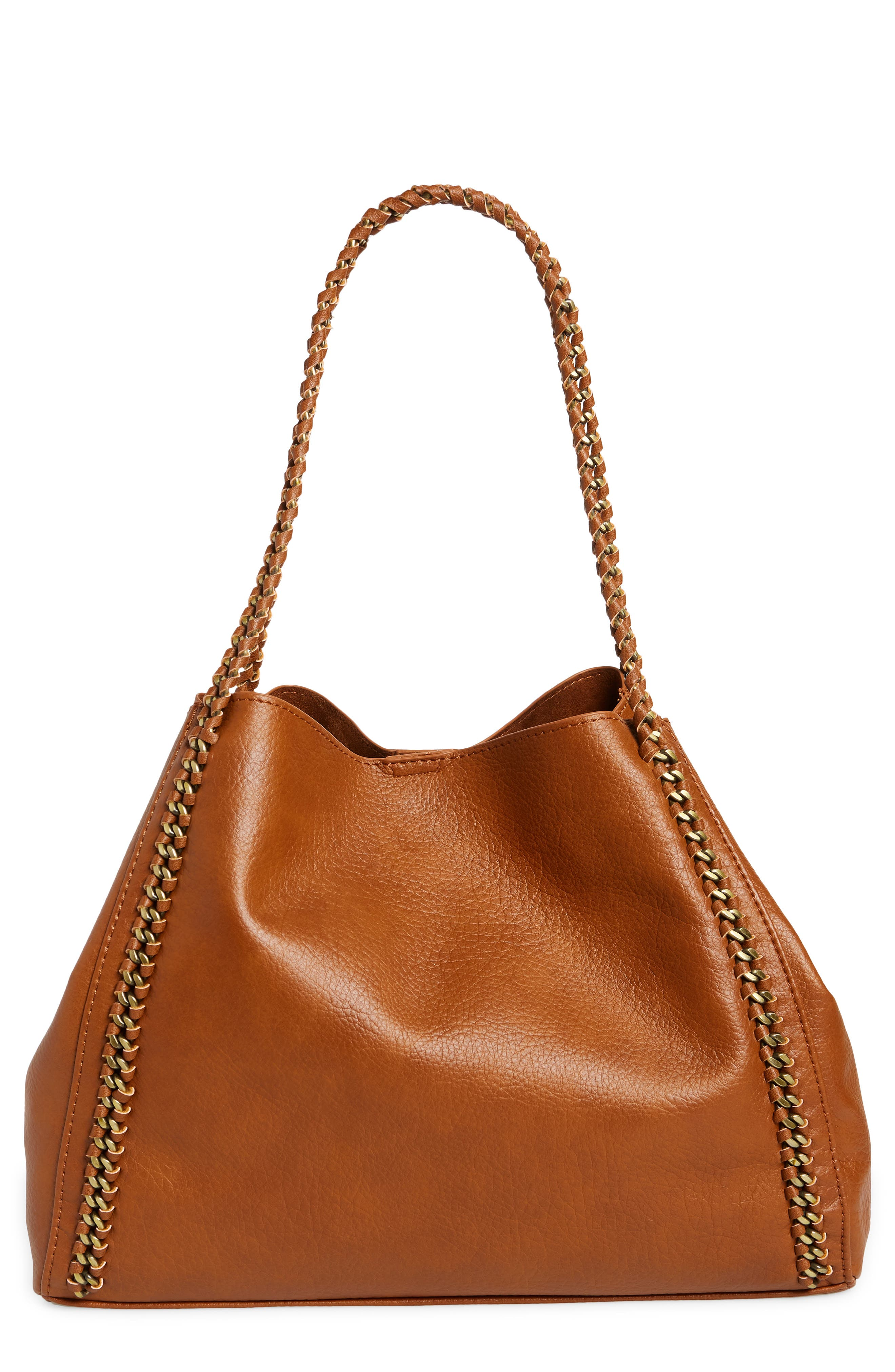Women/'s Top Handle Faux Leather Shoulder Hand Bags with three compartment Bag