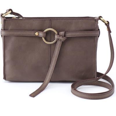 Hobo Libra Leather Crossbody Bag - Grey